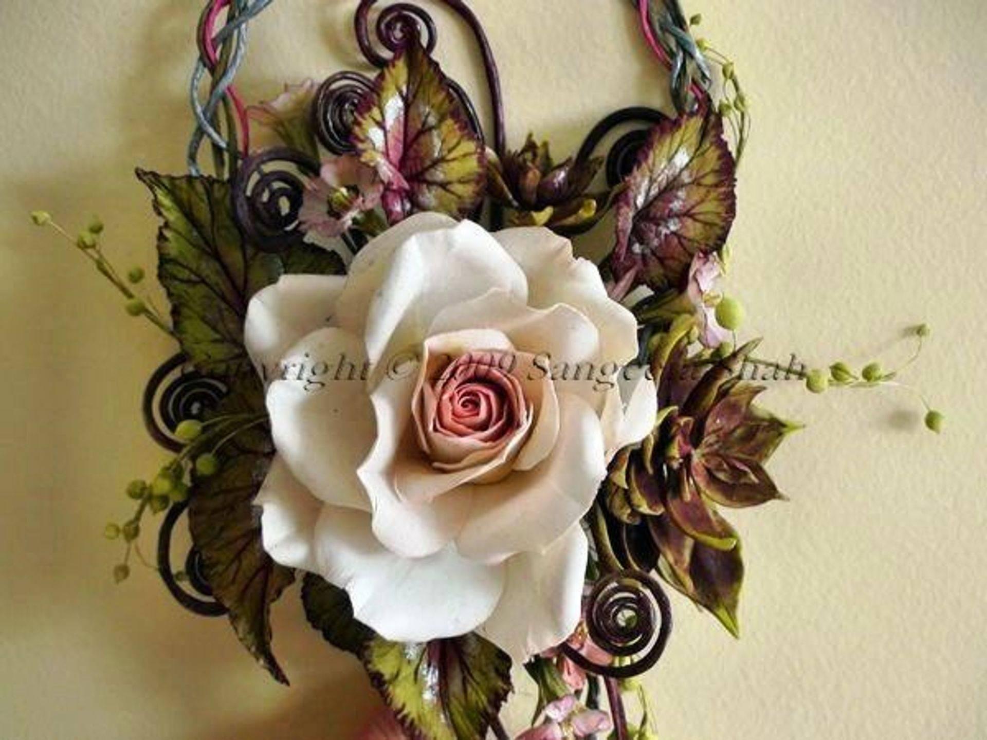 cold porcelain flower bouquet