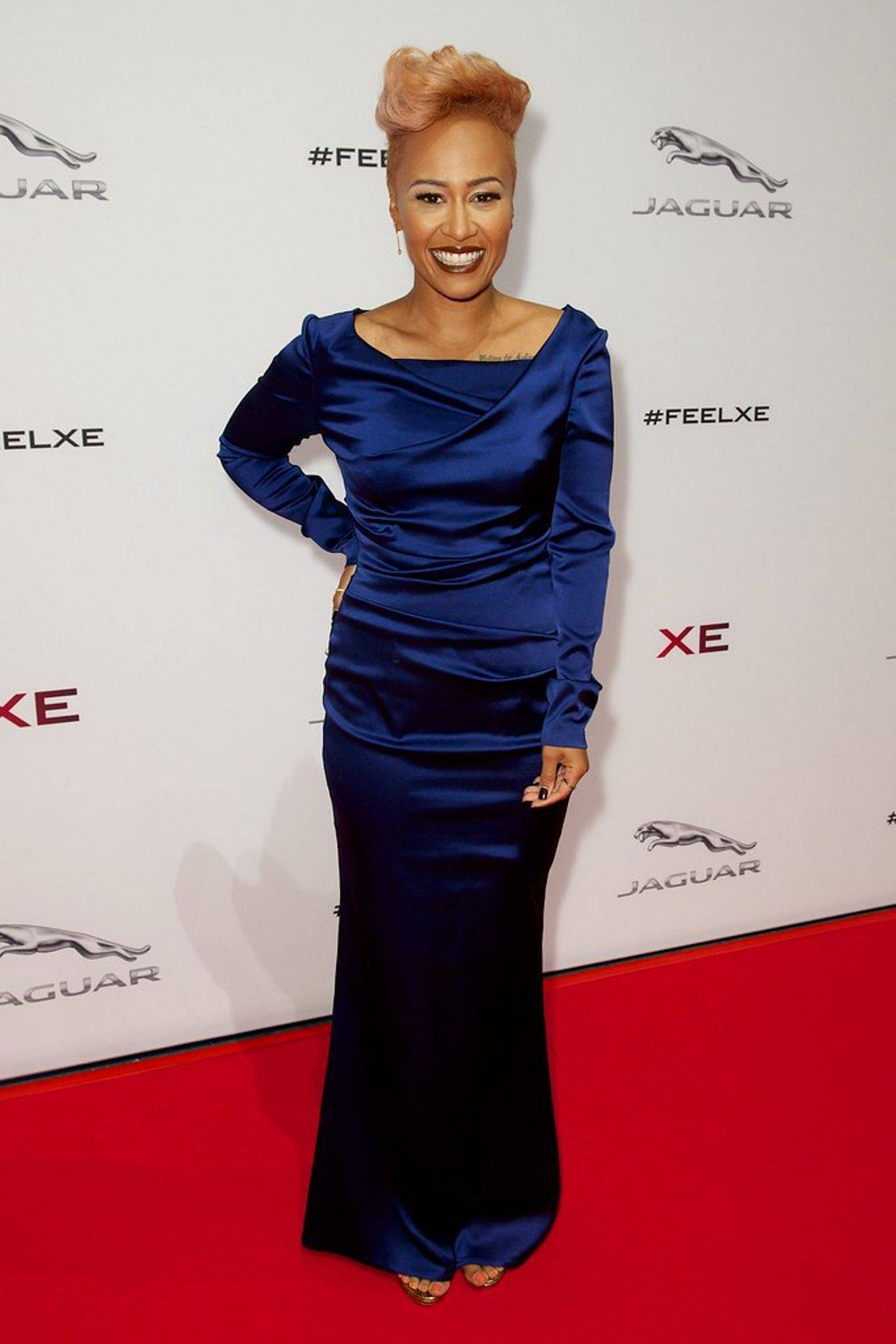 Emeli Sande at the launch of the new Jaquar XE London