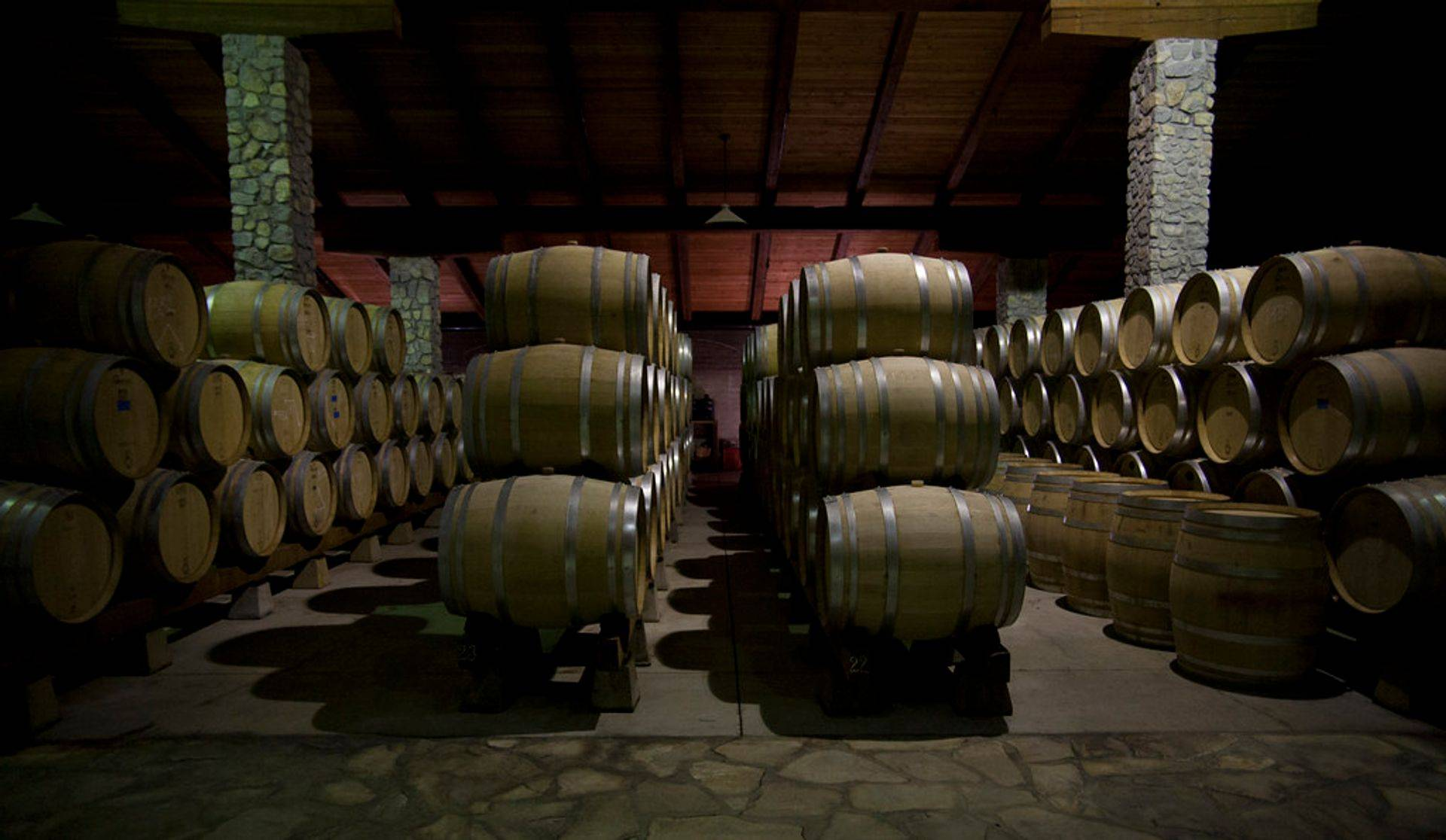 Private tasting in Santa Barbara wine barrel room