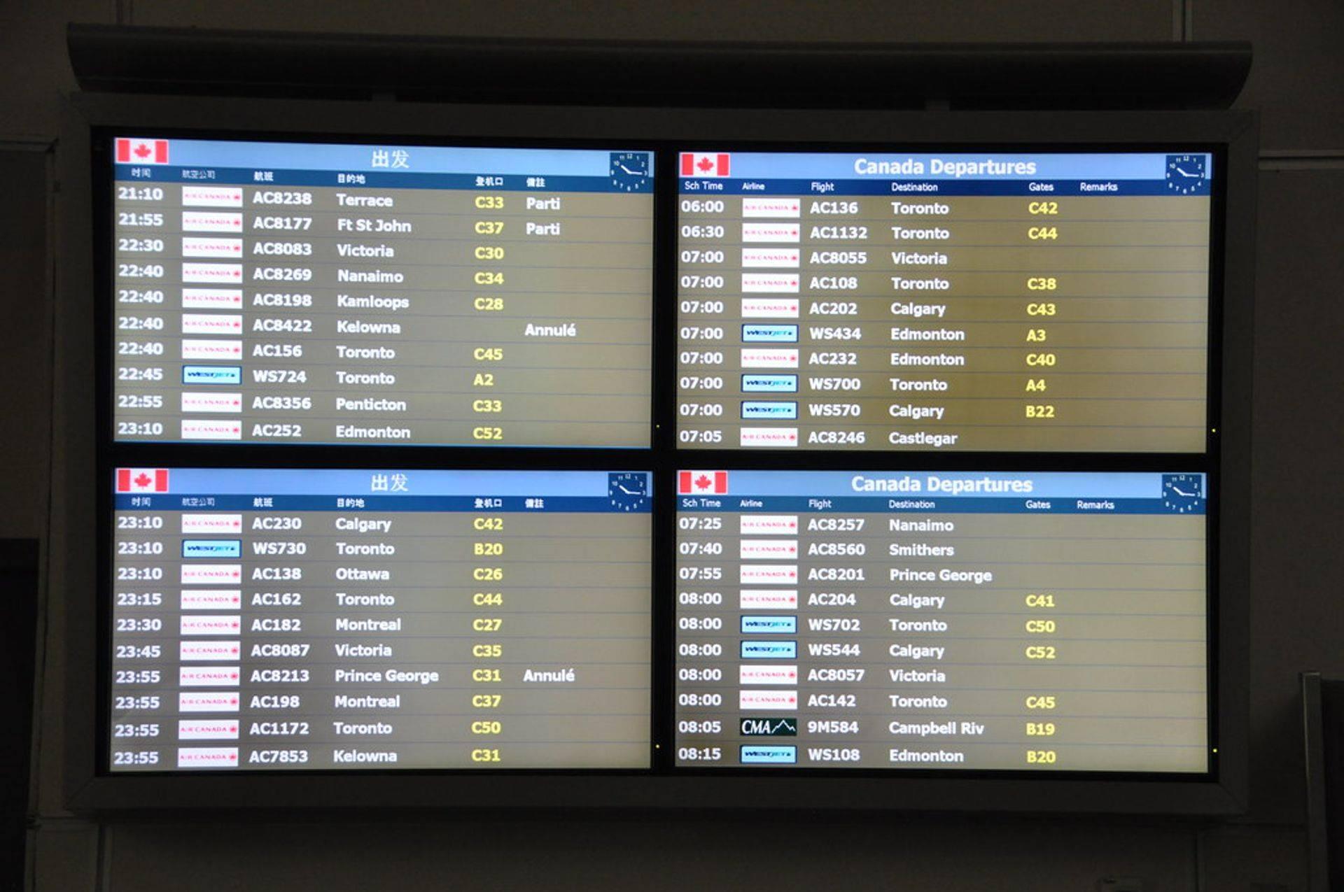 Flight Information at YVR