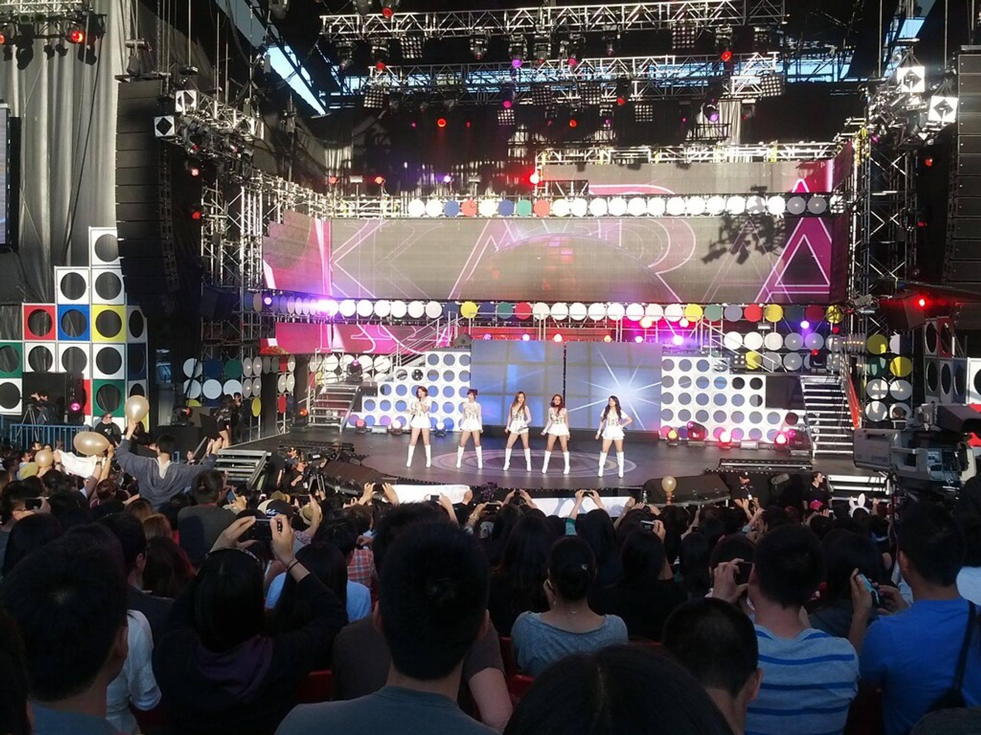 Kpop performance live on stage