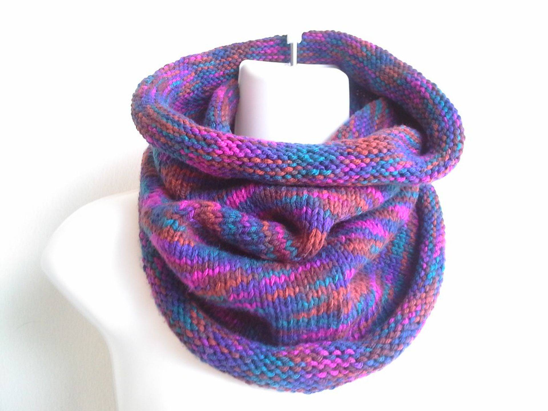 Berry Mix Knit Cowl