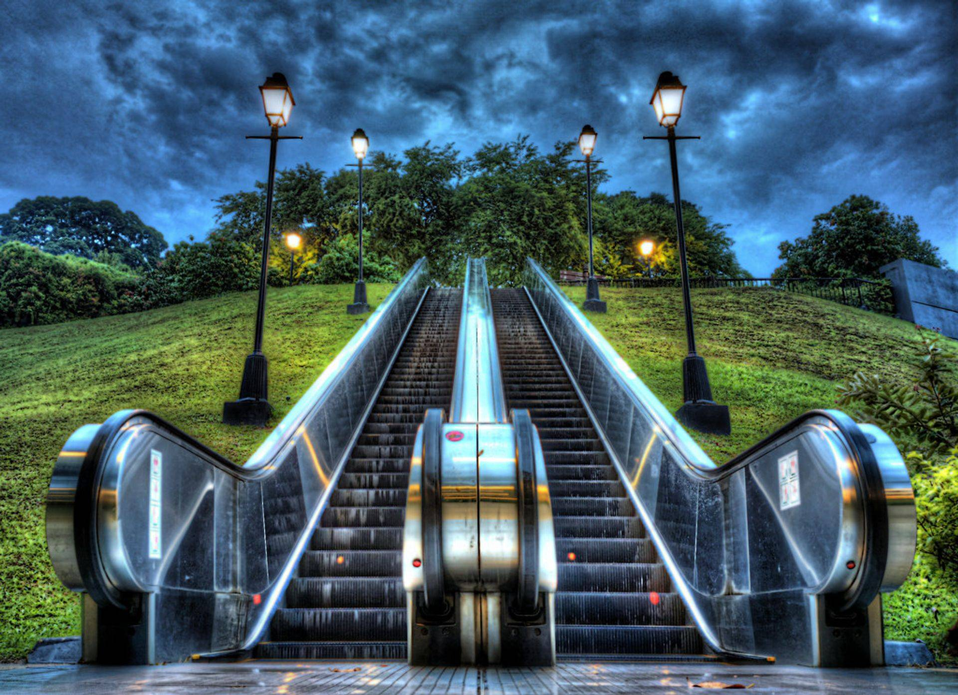 escalator to the future