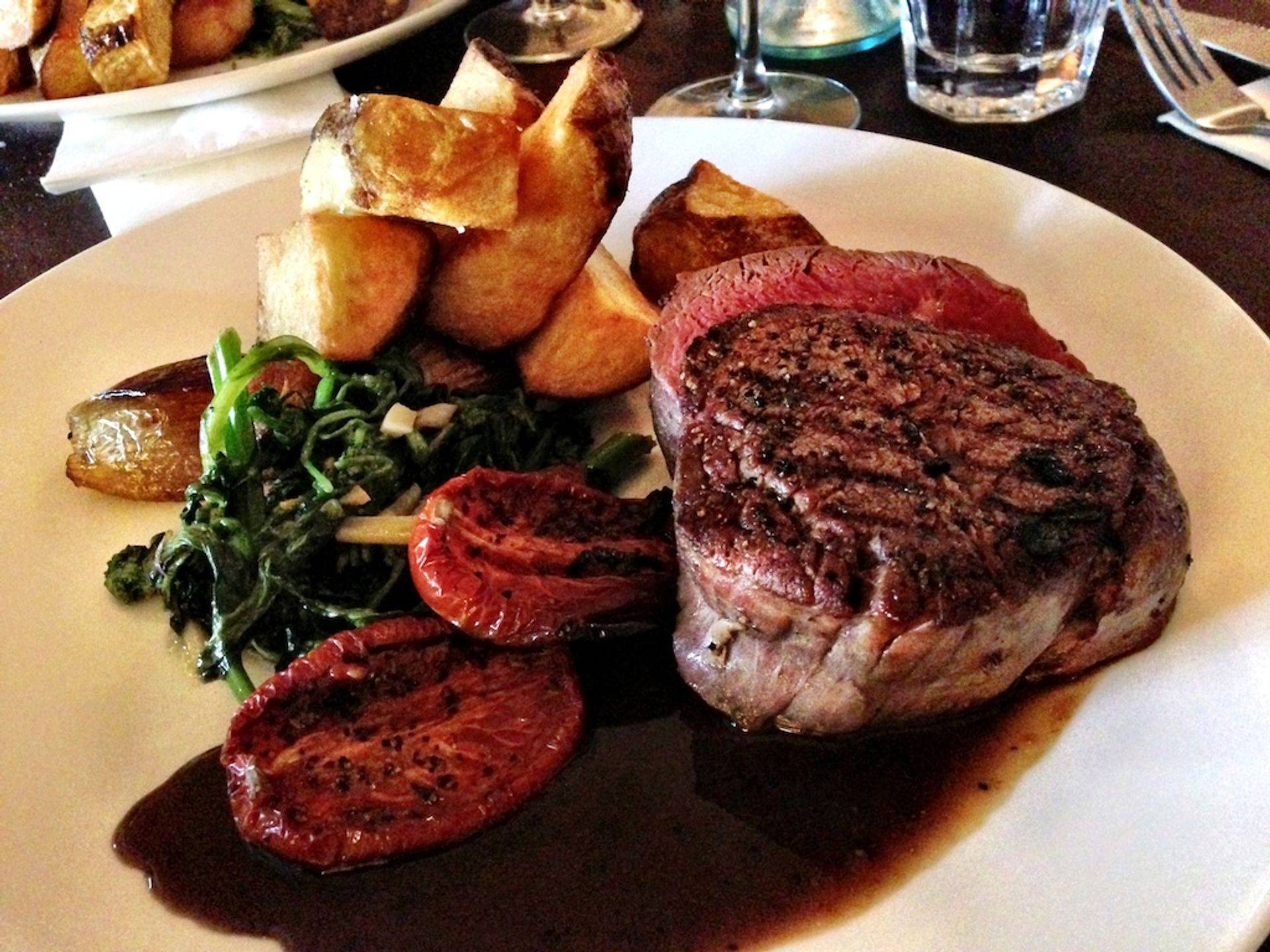 steak that will melt in your mouth at Figaro