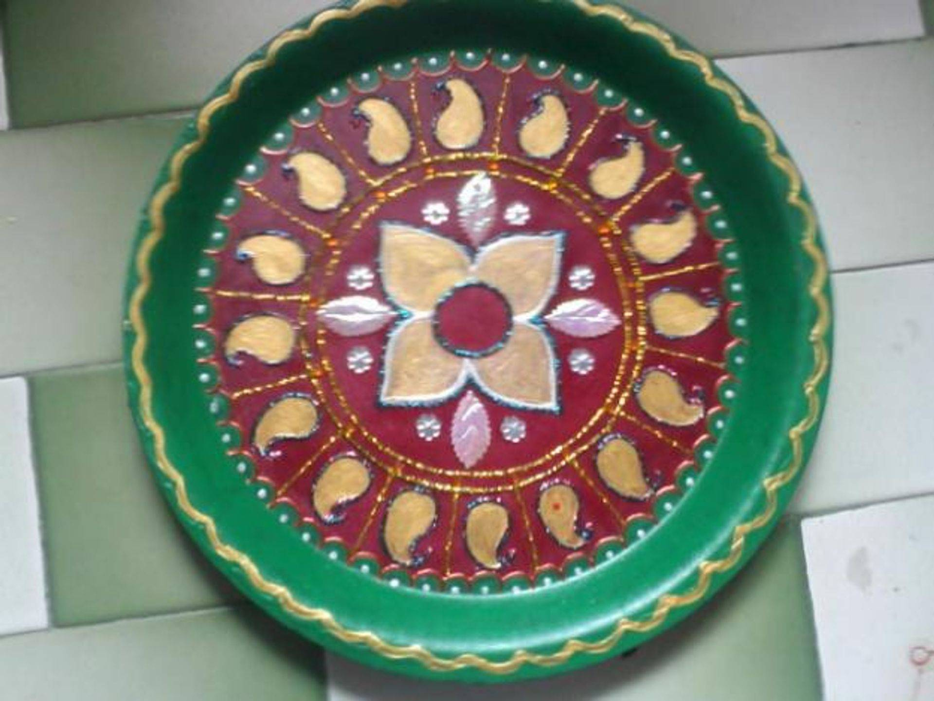 Wedding aarathi plates decorations for Aarthi plates decoration