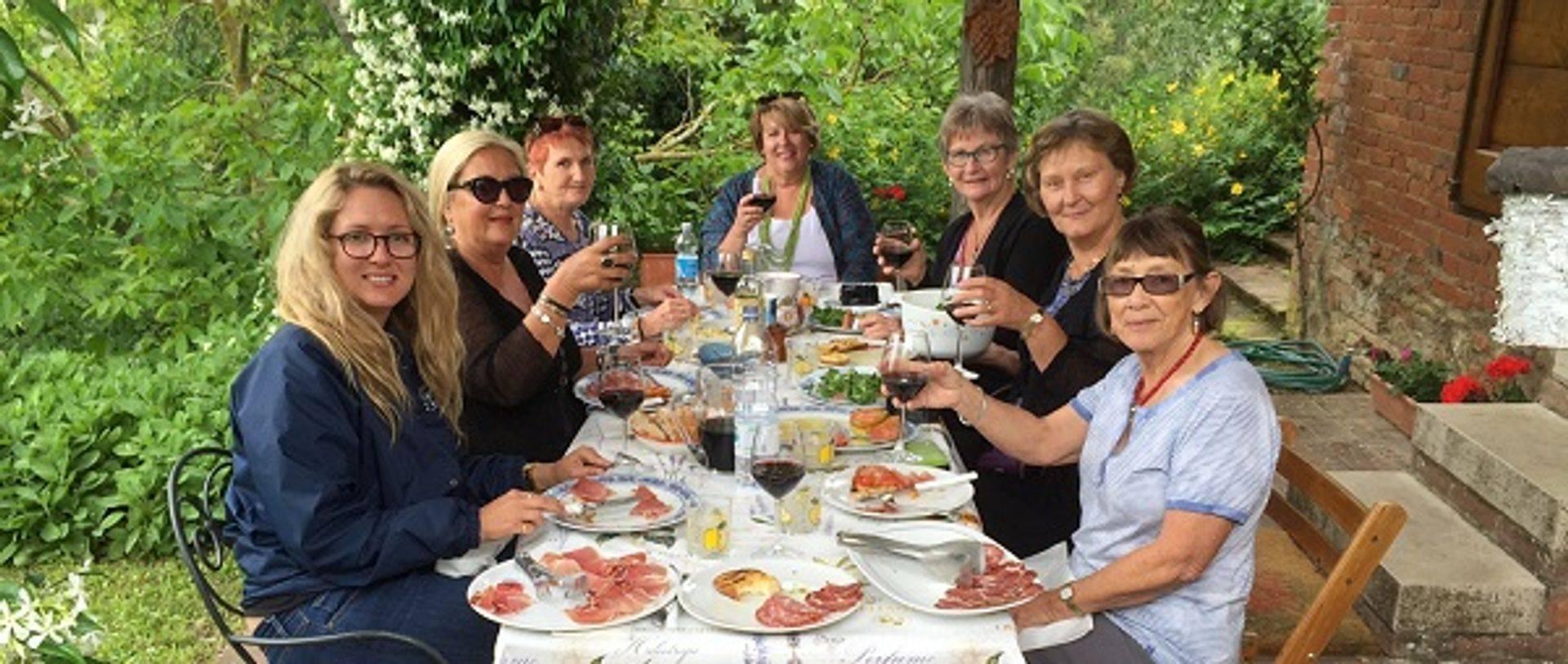"<img src=""australian womens travel.jpg alt=womens tour group having lunch in tuscany, italy"">"