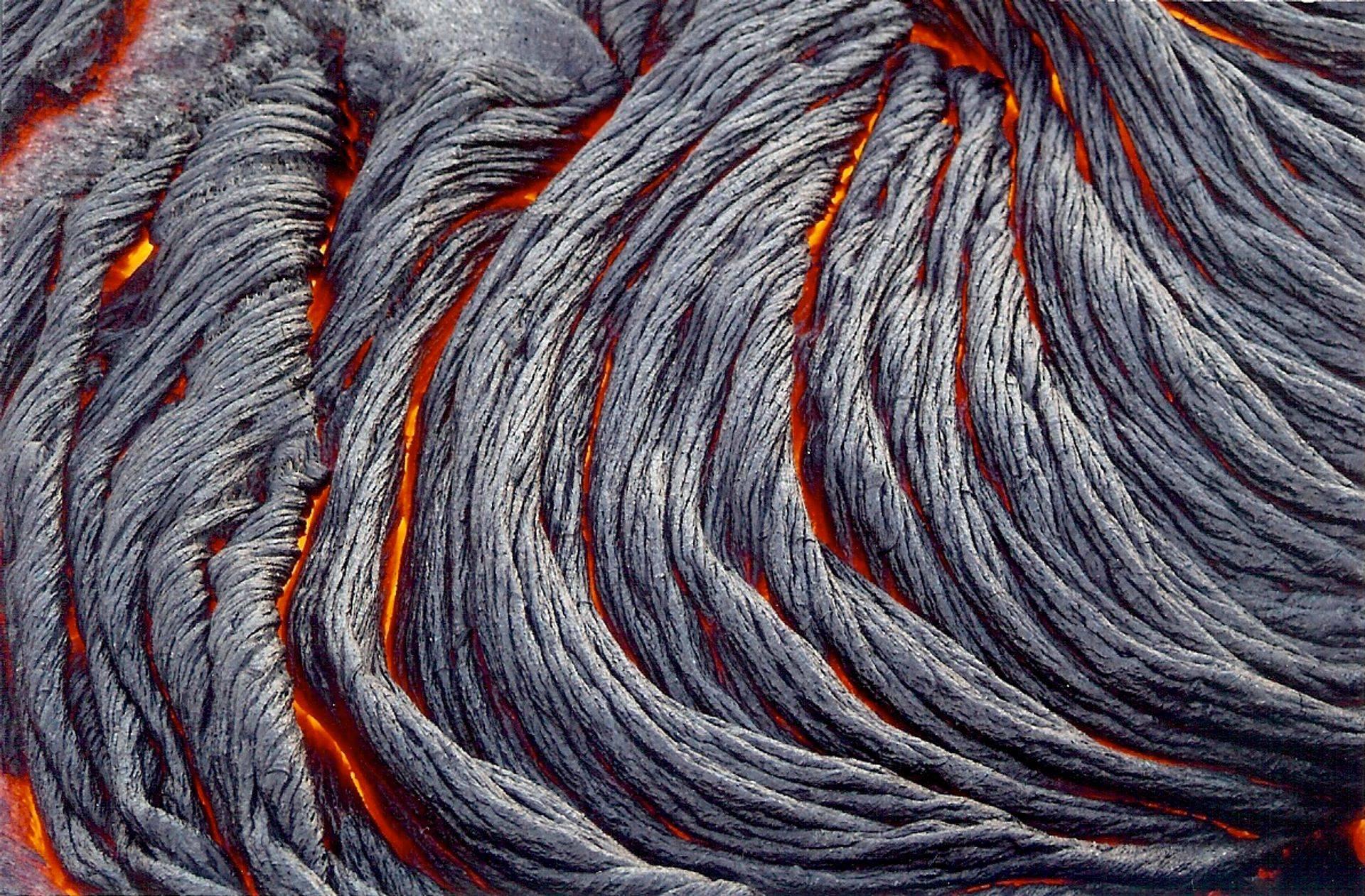 """Pa'hoi'hoi """"Rope Lava"""" from Kilauea"""