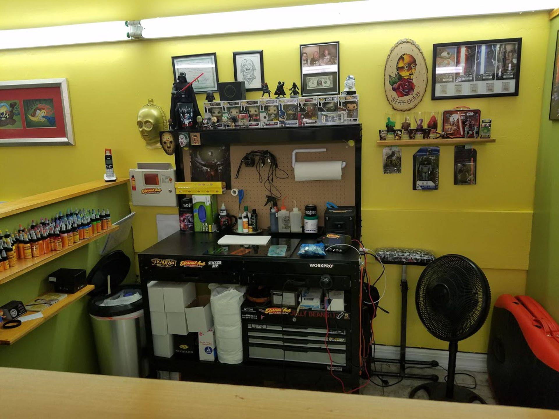 Tim's tattoo station