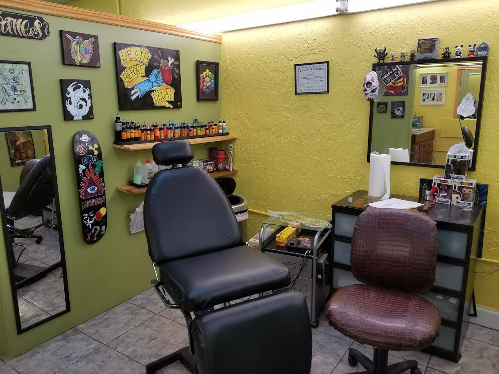 James tattoo station