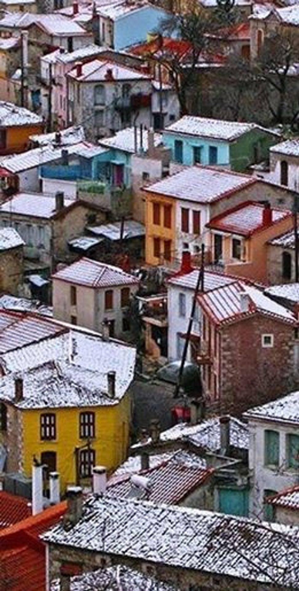 Agiasos, Lesvos island, Aegean, Snow white beauty , January 2015