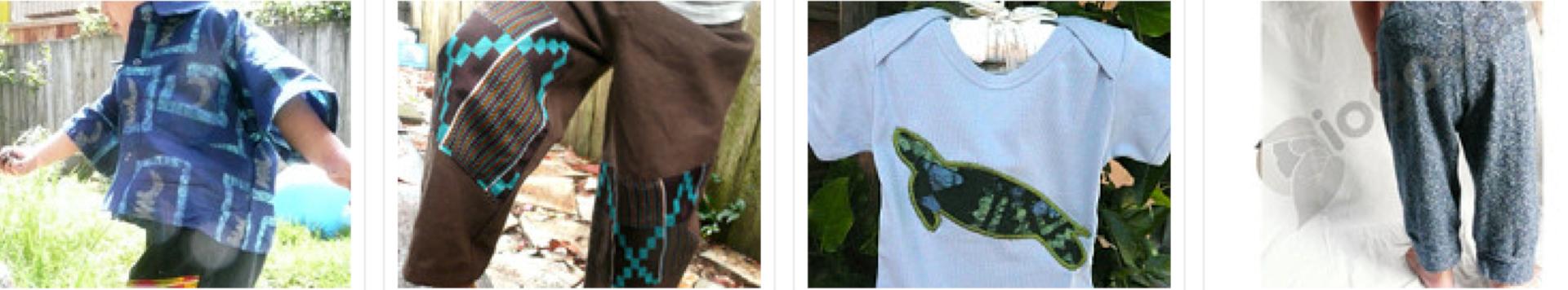 hemp clothing, African batik clothing, kids organic