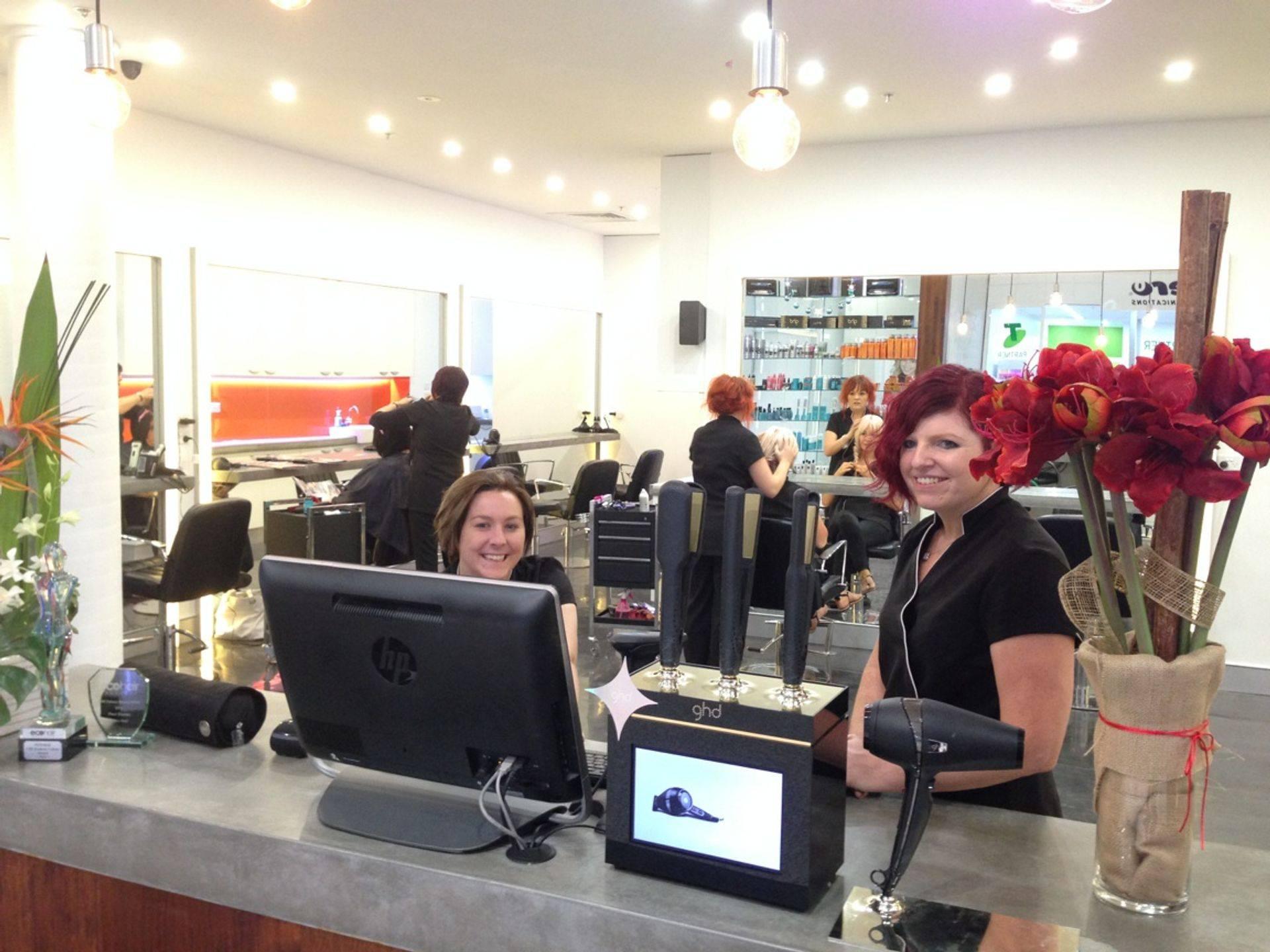 Happy hairdressers