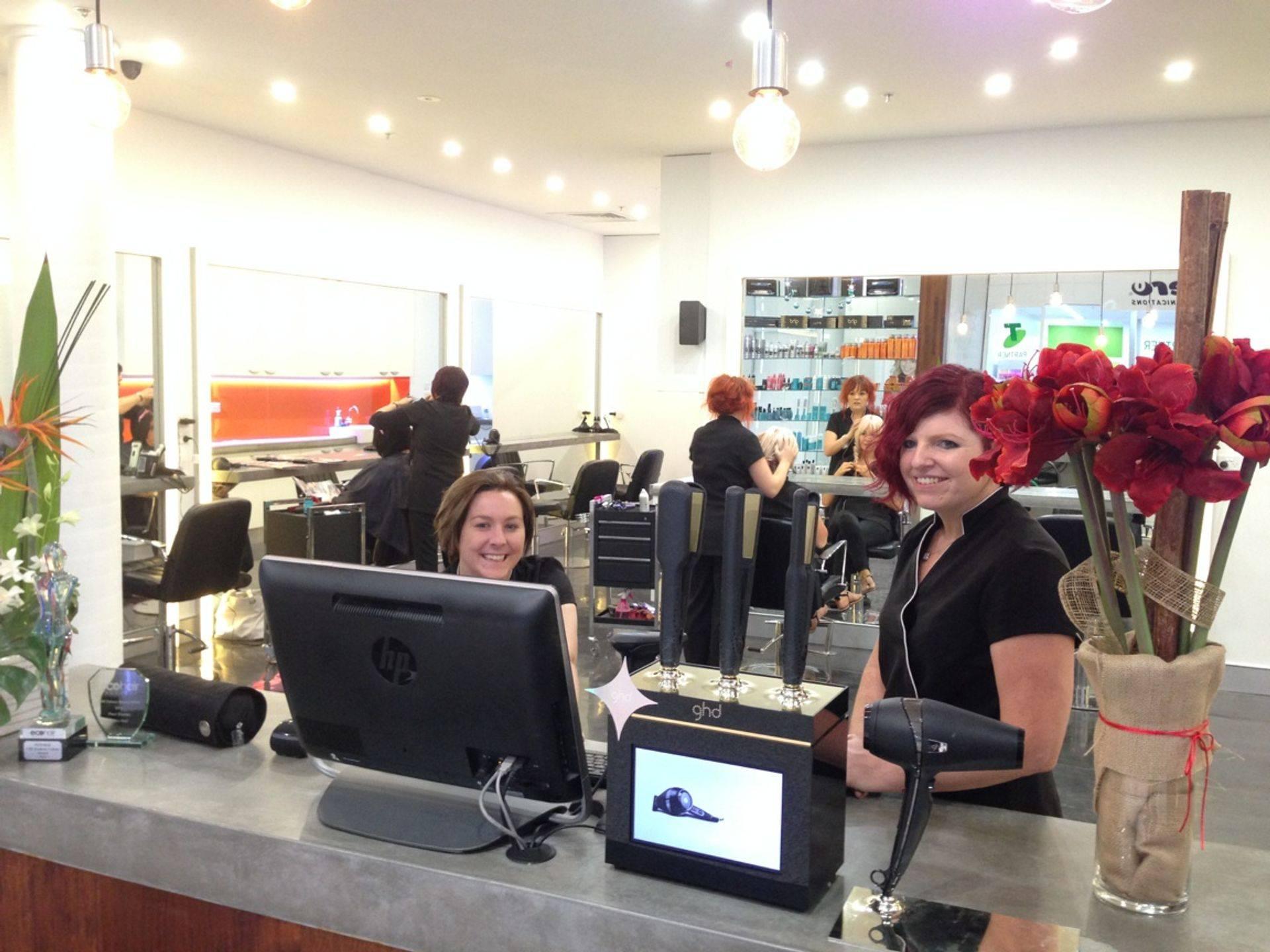 Happy hairdressers