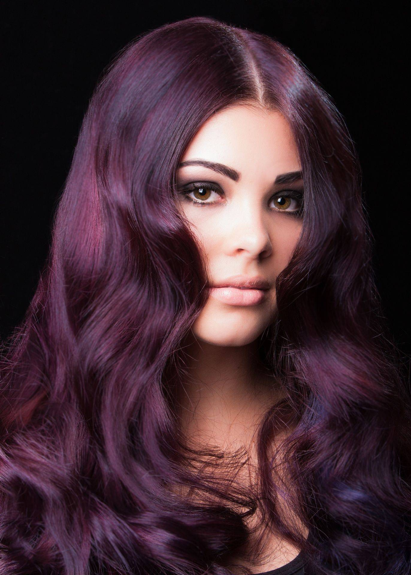 Local models used in all our marketing and images, Heidi in rich purple.