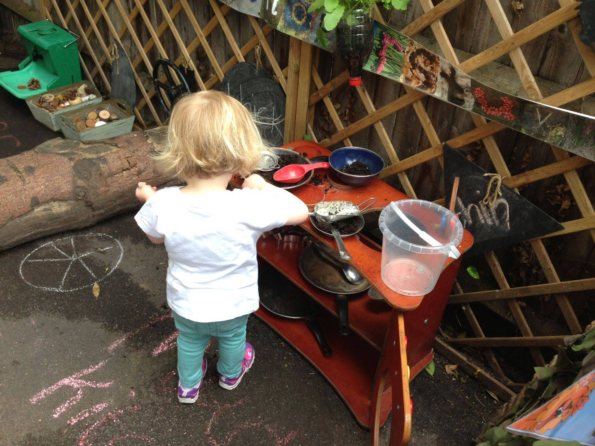 Getting messy and Learning through Play outside