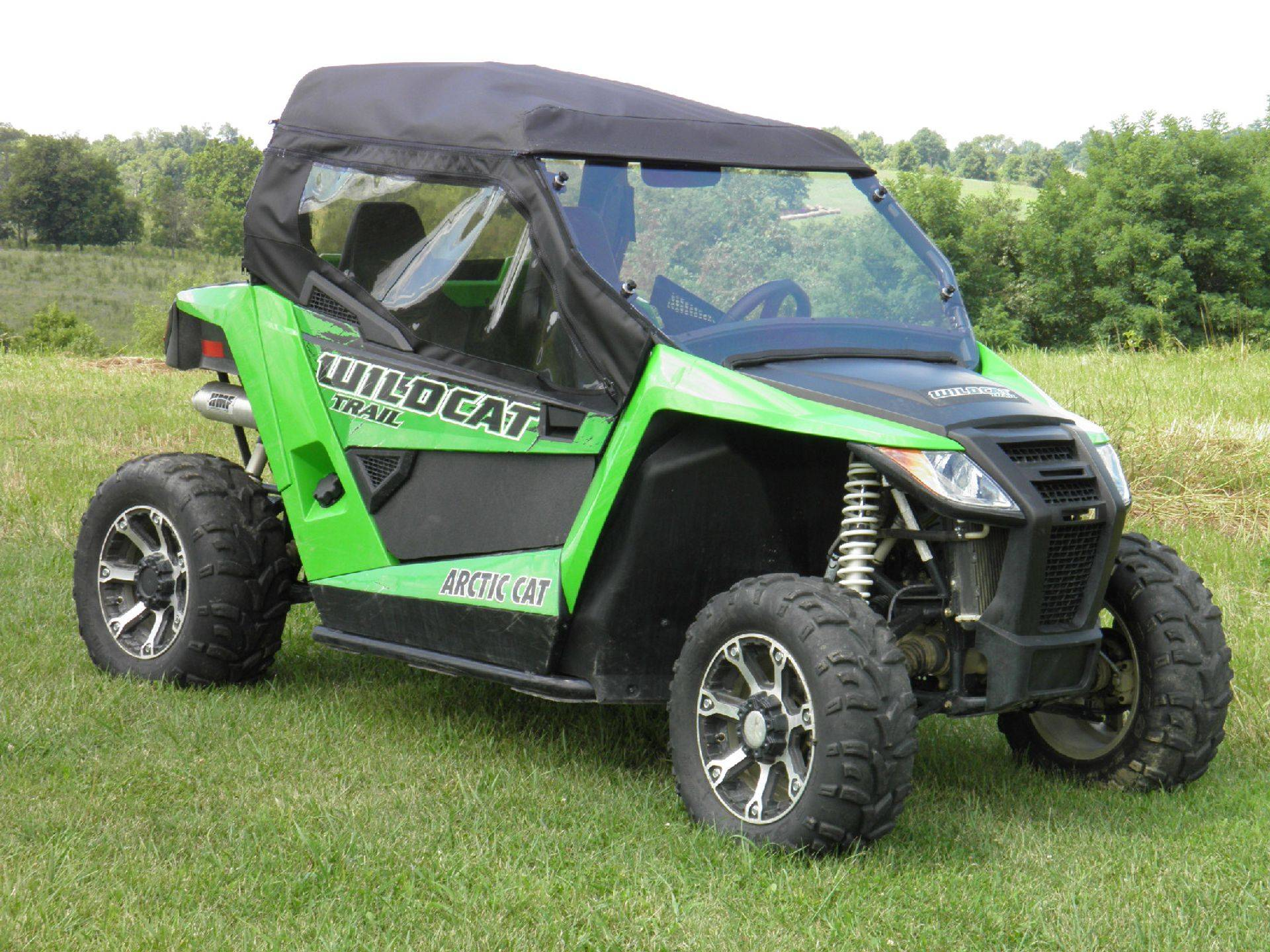 Arctic Cat Wildcat Trail  with a Lexan Windshield