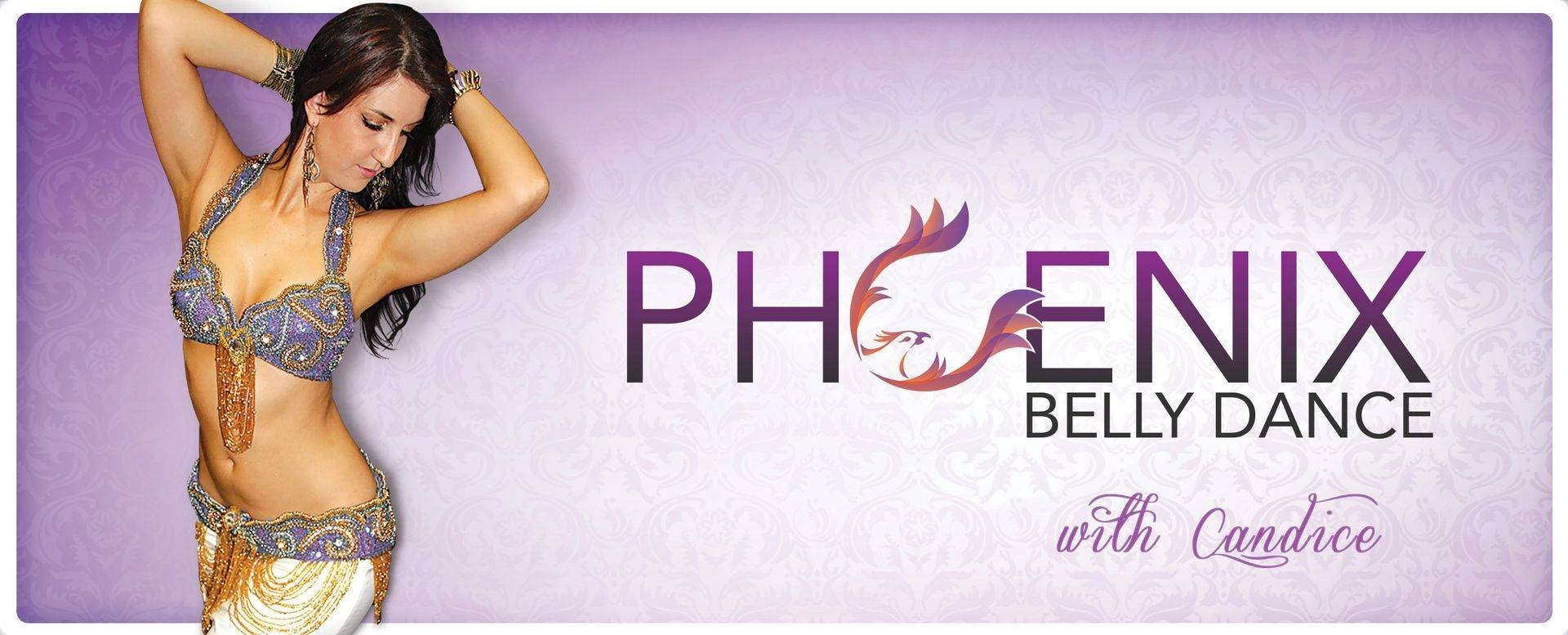 Purple Header for Phoenix Belly Dance Classes, Performances, and Costumes
