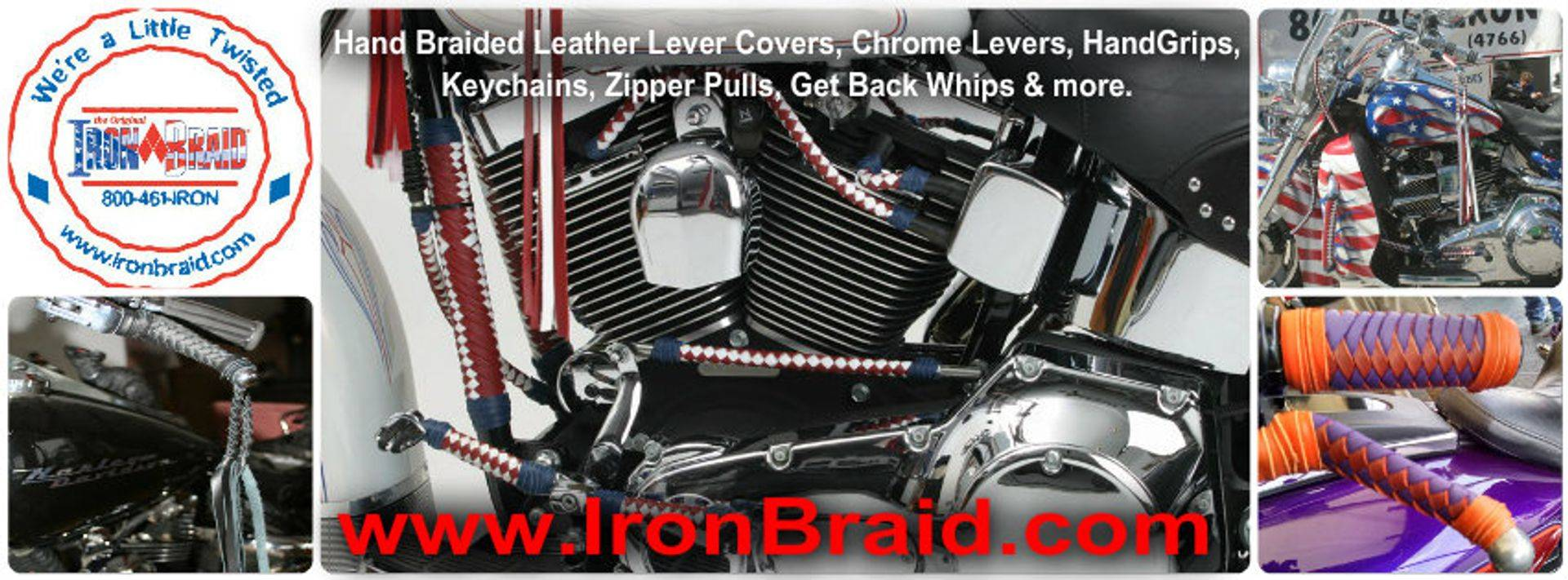 Iron Braid motorcycle braided accessories