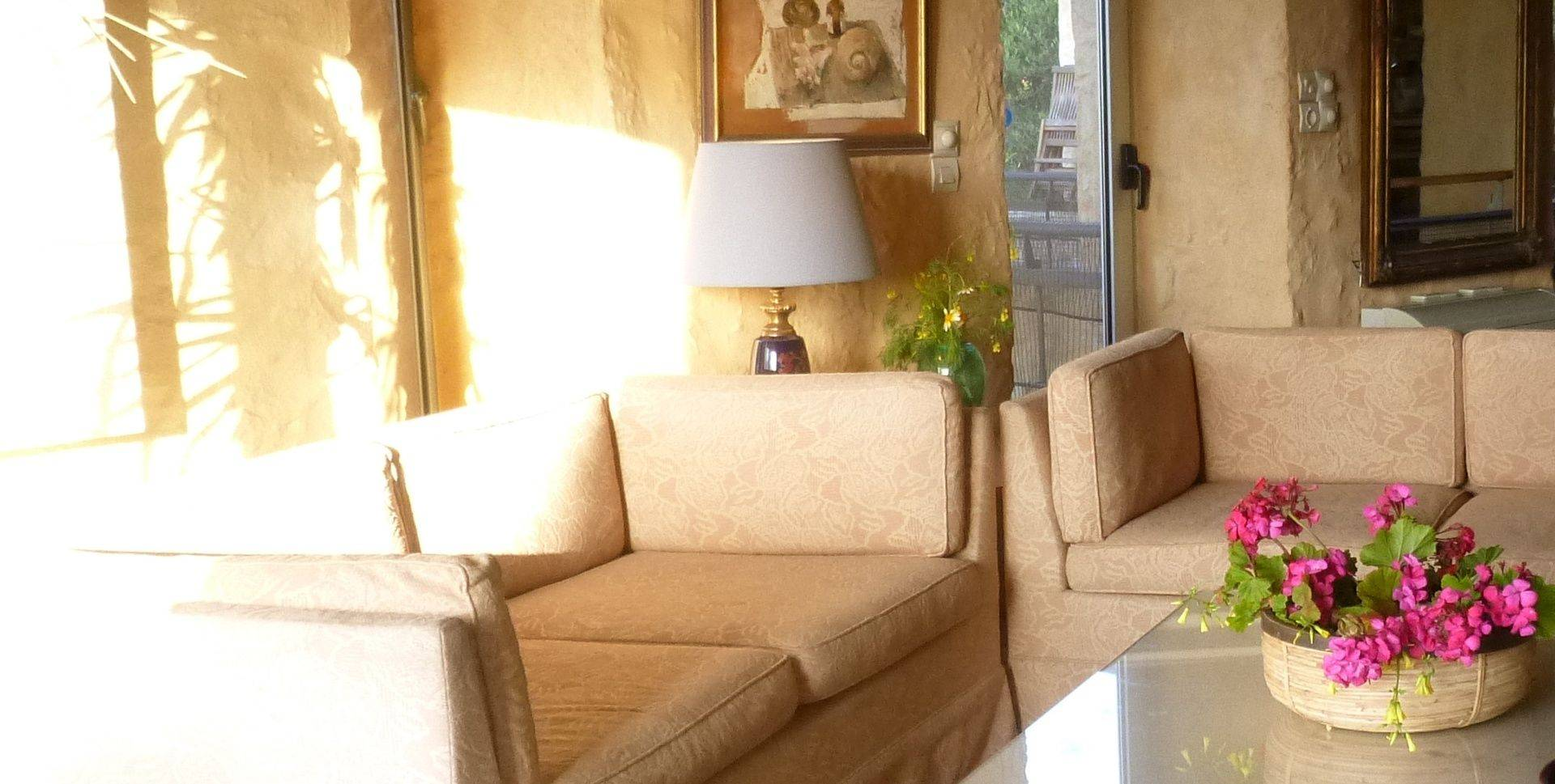 Sunshine washes the sitting room