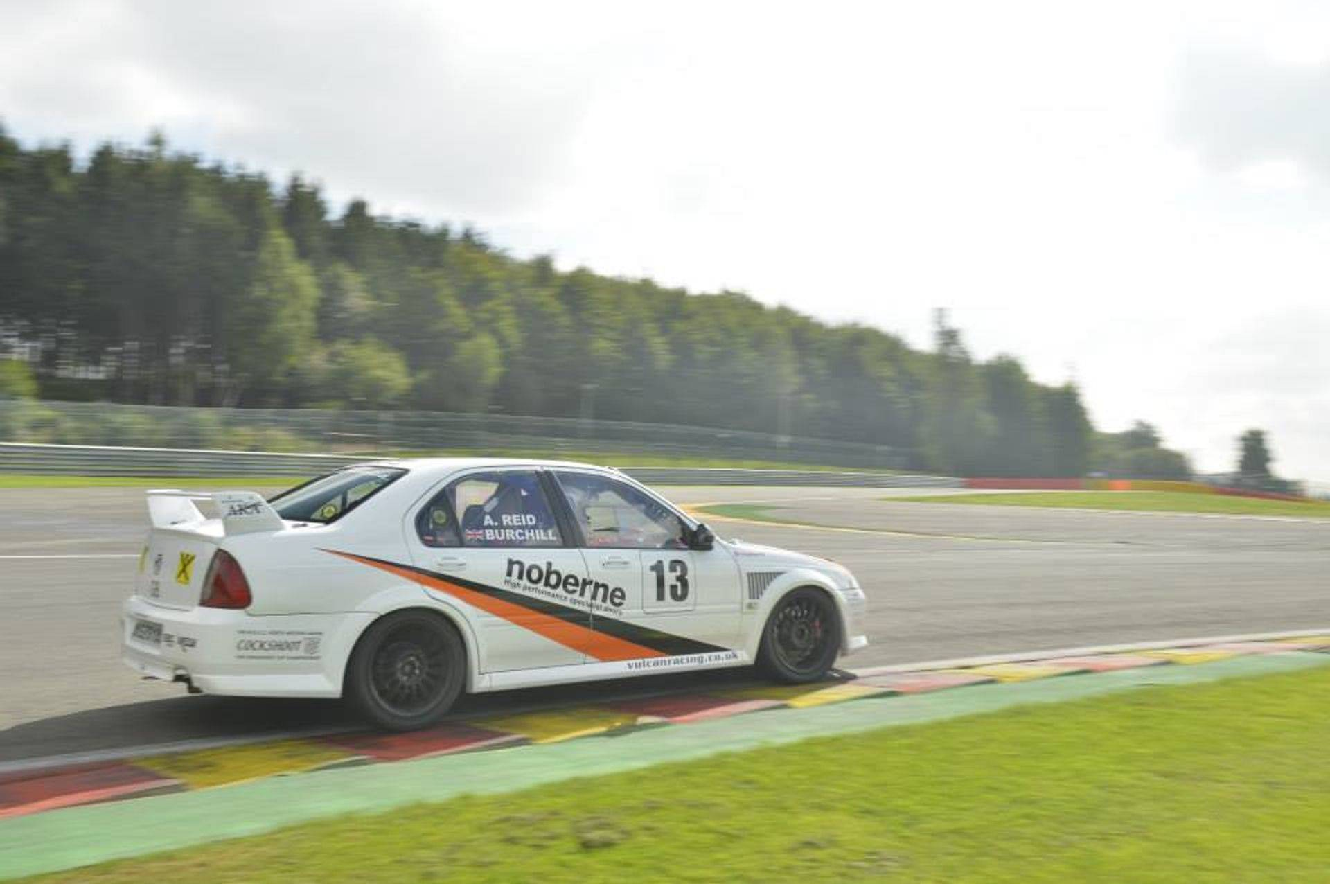 Burchill Vulcan Racing  Spa sponsor trackday
