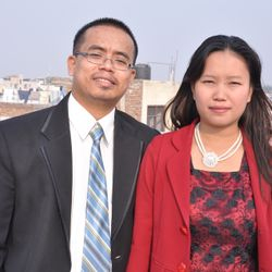 ABTS & OAPCIO FOUNDER/ PRESIDENT. DR.P.MANGTE WITH HIS WIFE, CO-FOUNDER/GENERAL SECRETARY OF ABTS NEW DELHI & OAPCI.SIS. JENNY MANGTE.