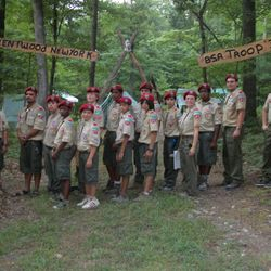 Troop 371 ends another fun filled week of summer camp at Camp Tuckahoe in Pennsylvania.