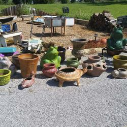 Outdoor pottery!