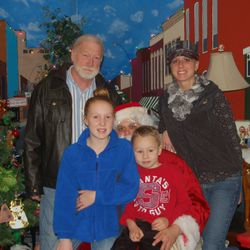 Three generations visit the Burg Dog for Christmas holiday
