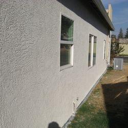 Pre-paint stucco repair