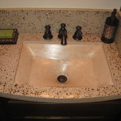 E St. bath counter w/ custom integrated sink