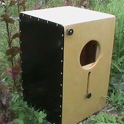 The Hybrid strings and snare cajon with two closing sound ports. $449