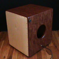 Solid Bubinga Snare Cajon with Padouk Binding and Pickups