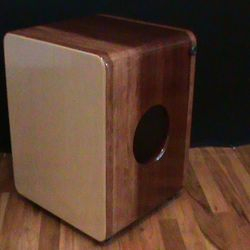 Custom cajon unlikely to be reproduced.