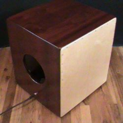 Solid Padouk Bajo Cajon with Pickups