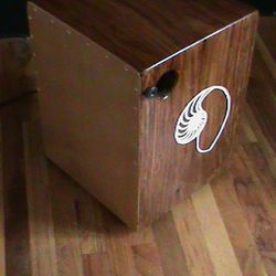 Indian Mahogany Snare Cajon with Hand Painted Nautilus