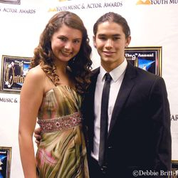 OMNI Awards with actress Taylor Hay and actor Booboo Stewart