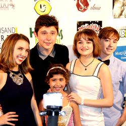 Actors Autumn Wendel, Mateus Ward, and Joey King at Start for a Night benefit 2014