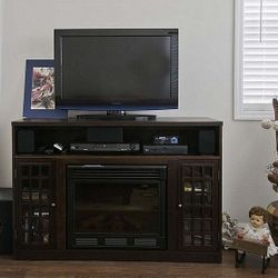 Entertainment Center with Electric Fireplace and DirecTv