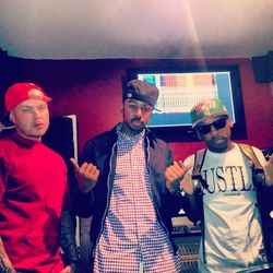 "The First Class Founder/CEO, EJ Jones, after recording session with Cals & Jonn Star (#1 Single, ""Who Booty"" 2013)"