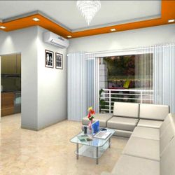 1BHK Sample inside.
