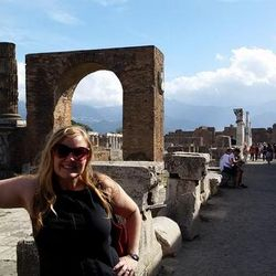 My sister at Pompeii
