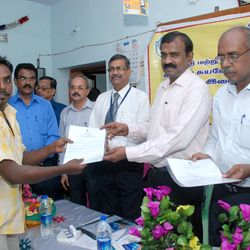 Distribution of Certificate by District Collector, CRM IOB, AGM NABARD