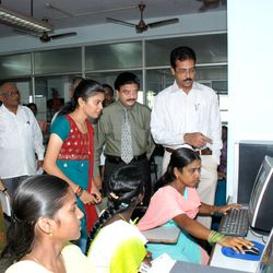 District Collector and CRM IOB with DTP trainees