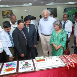 CMD IOB, DEPUTY Governor RBI & GM IOB viewing the display