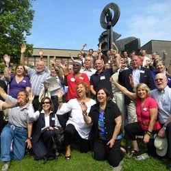 Teachers at the 2010 reunion