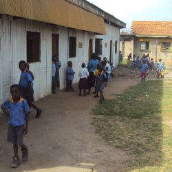 classroom made from iron sheeted walls