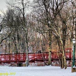 Lewisburg Park Footbridge - Winter (Photo credit to 4MAN - MOTORSPORTS)