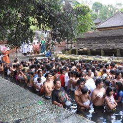 A religios ceremony in Bali