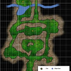 Floorplan for Soul Balance's first level: Old Oak Outskirts