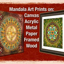 Mandala Prints on Canvas, Paper and more.